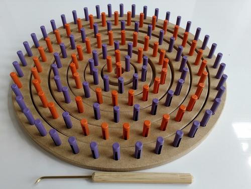 tear redondo circular pino plástico sem cabeça com friso