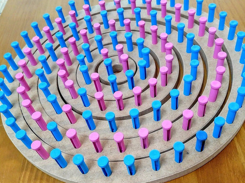 tear trico circular cachecol gorro touca (06) peças + agulha