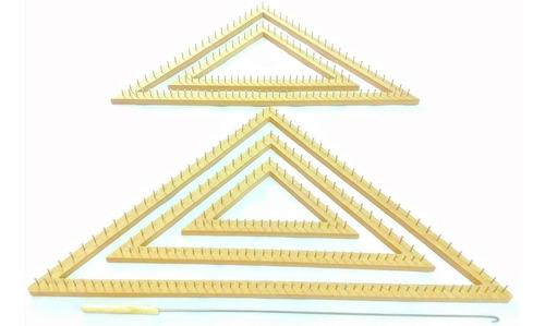 tear triângulo prego 05 peças + agulha gancho - premium