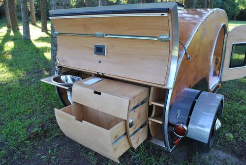 teardrop trailer familiar para 4 personas - andycampers