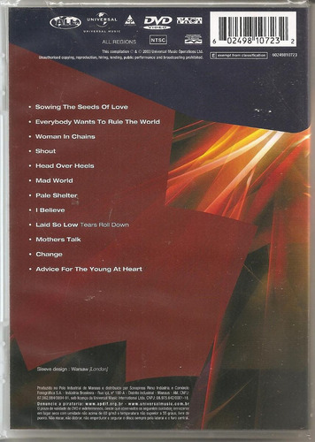 tears for fears dvd tears roll down greatest hits 82-92 raro