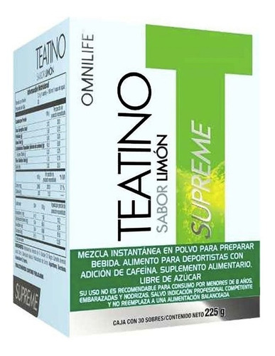 teatino limon omnilife (caja de 30 sobres) original