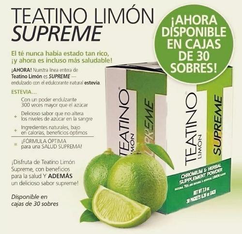 teatino, suplemento alimenticio, té de limón omnilife
