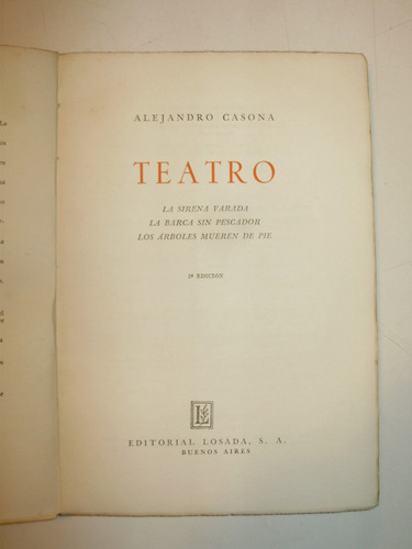 teatro alejandro casona editorial losada arg 1955