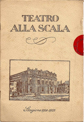 teatro alla scala (italiano) - stagione 1924-1925 - programa