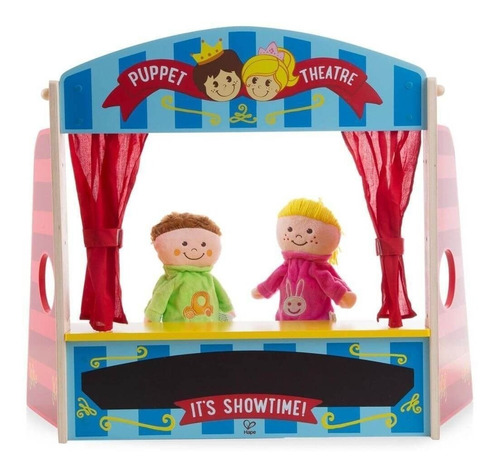 teatro de titeres infantil dos marionetas madera hape e1044