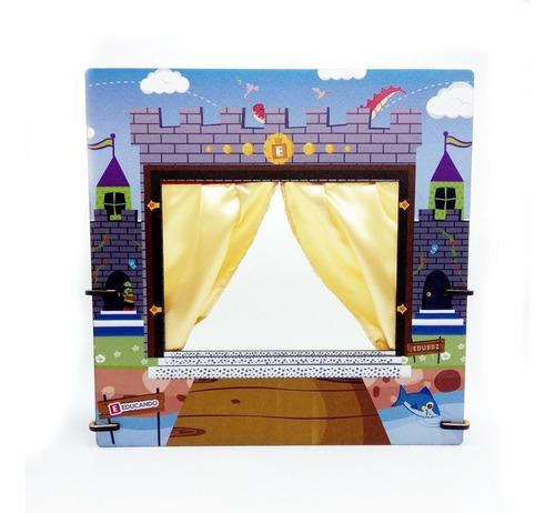 teatro de titeres mano castillo circo titere x1 manopla edu
