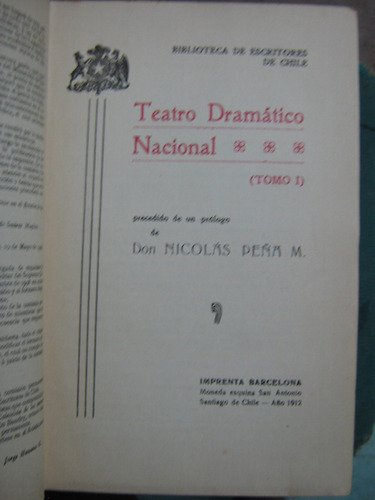 teatro dramático nacional tomo i 1912