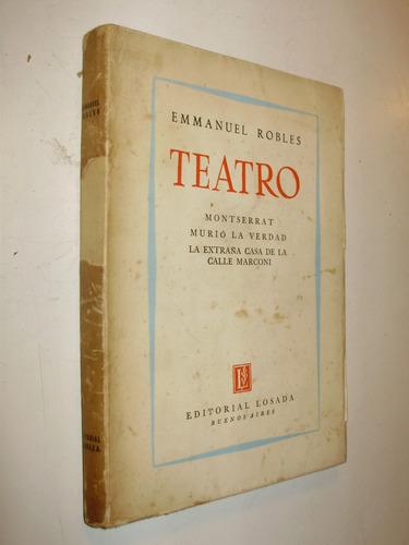 teatro emmanuel robles editorial losada arg 1954