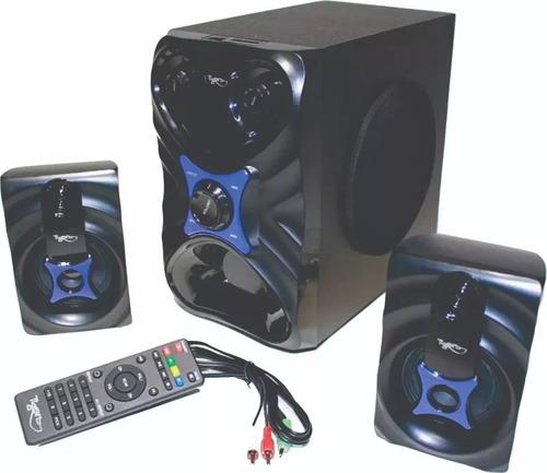 teatro en casa bluetooth con woofer 26w radio fm usb sd