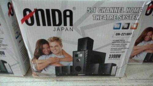 teatro en casa home theater onida japan 5.1 usb sd fm 3000w