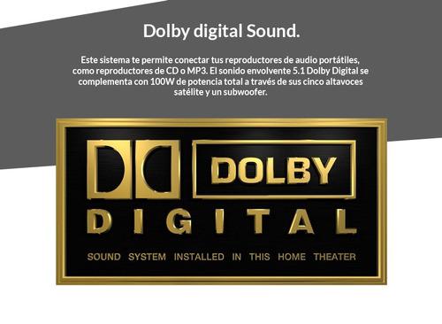 teatro en casa rca 5.1 con dvd hd dolby digital 100w  6369