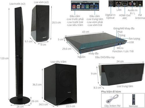 teatro en casa sony blue ray 5.1 wifi bluetooth 1000 watts