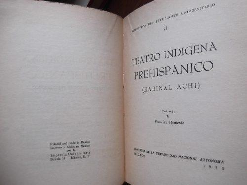 teatro indigena prehispanico rabinal achi unam 1955