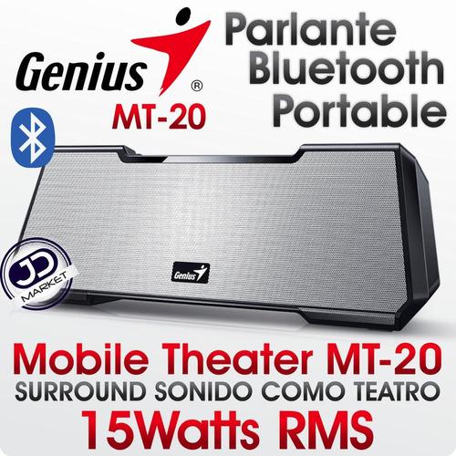 teatro móvil  bluetooth genius mt-20 · sonido surround 2.1