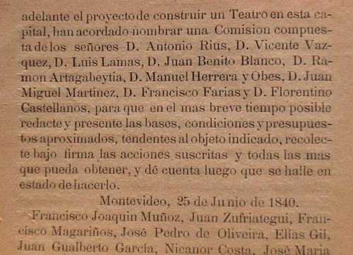 teatro solis 29 aniversario de creacion 1856 1885 i.de maria