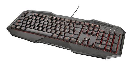 tec-jb informática - combo gamer trust 4 en 1 mouse teclado