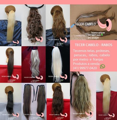 tecemos cabelos humanos mega hair rabos apliques franjas