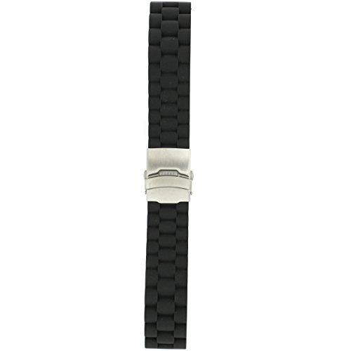 tech swiss rs13722ss silicon rubber watch banda correa despl