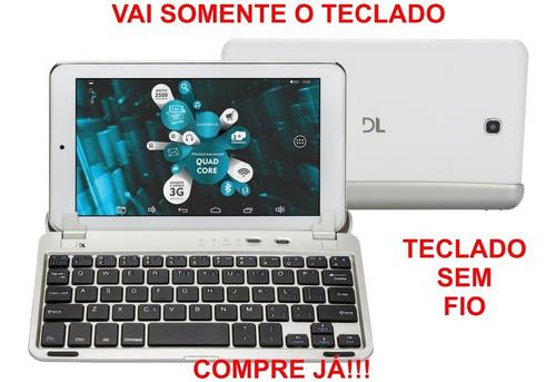 tech teclado original para tablet dl, multilaser bluetooth