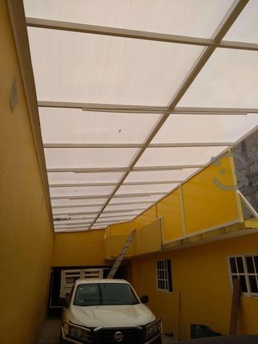 techados y toldos con policarbonato, cortinas de manivela