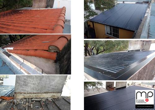 techista colocacion de chapas techos parabólicos tinglados