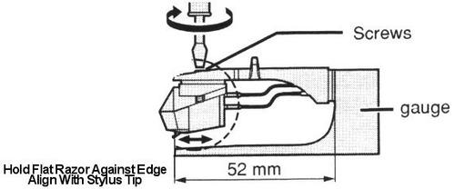 technics alineador de capsula - tornamesa