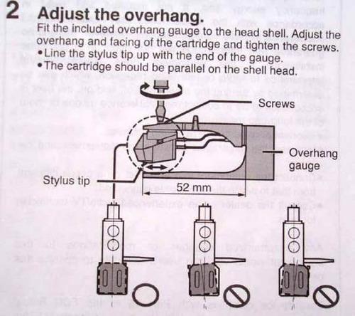 technics alineador de capsula - tornamesa - pack 2
