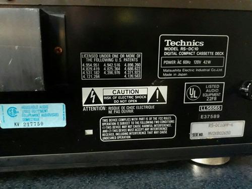 technics dcc en buen estado modelo rs dc10