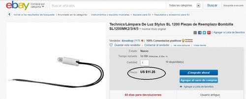 technics pop-up light (bombillo) sl1200mk2/3/4/5