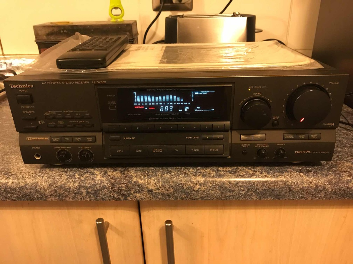 Technics Receiver Sa-gx303 Manual Y Control Remoto  - $ 280 000