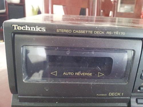 technics rs-tr170 tocador doble de cintas de musica. japones