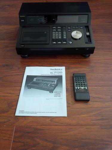 technics sl-p 1200 cd player  manual controle caixa original