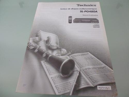 technics / sl-pg480a / manual de usuario / compact disc /