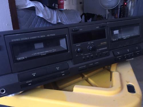 technics stereo double cassette deck modelo rs-tr232