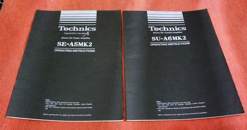technics su-a6mk2 e se-a5mk2 - manuais originais