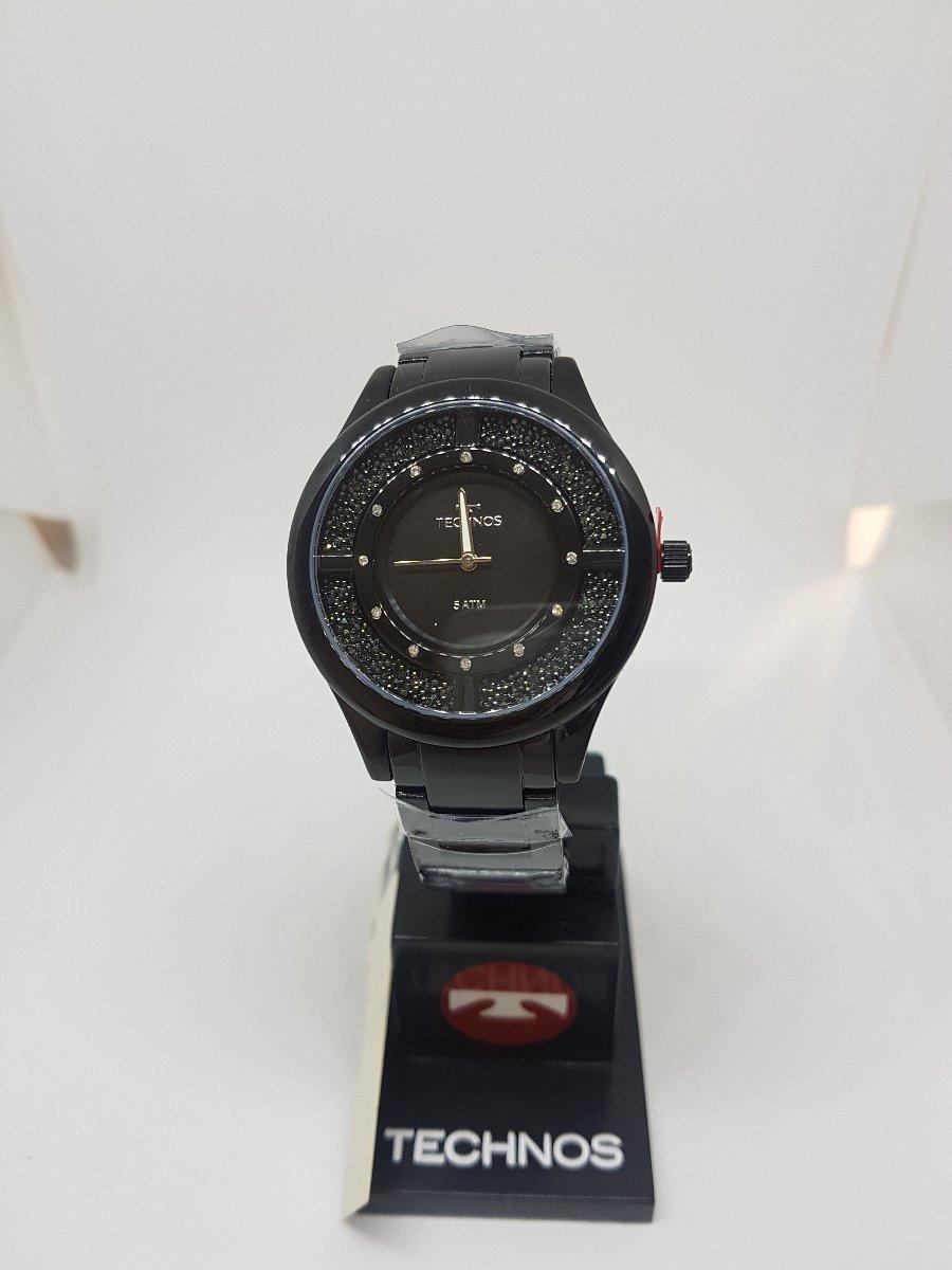 0bd02640fb0ef Relógio Technos Feminino Elegance Crystal Preto Gl30fm 4p - R  489 ...