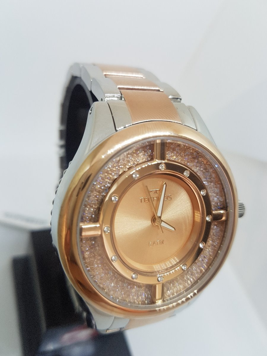 Relógio Technos Feminino Elegance Crystal Rose Gl30fn 5a - R  554,00 ... 02924de3e9