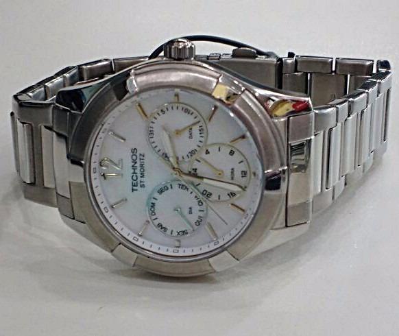657252f93 technos feminino relógio · relógio technos feminino elegance st. moritz  6p29gu 1b prata