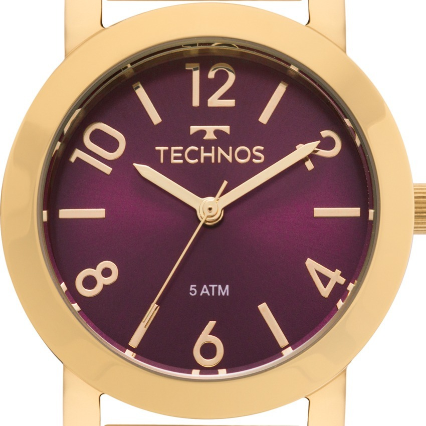 18500e8a375 Carregando zoom... relógio technos feminino elegance dourado nfe ...