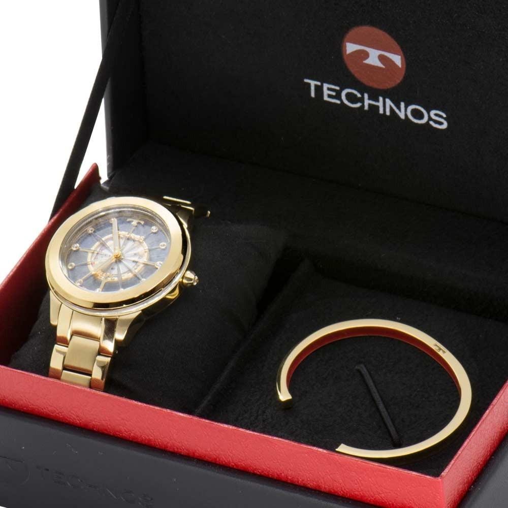 df34ec17099f6 Relógio Technos Essence Crystal Feminino Kit F03101aa k4w - R  839 ...