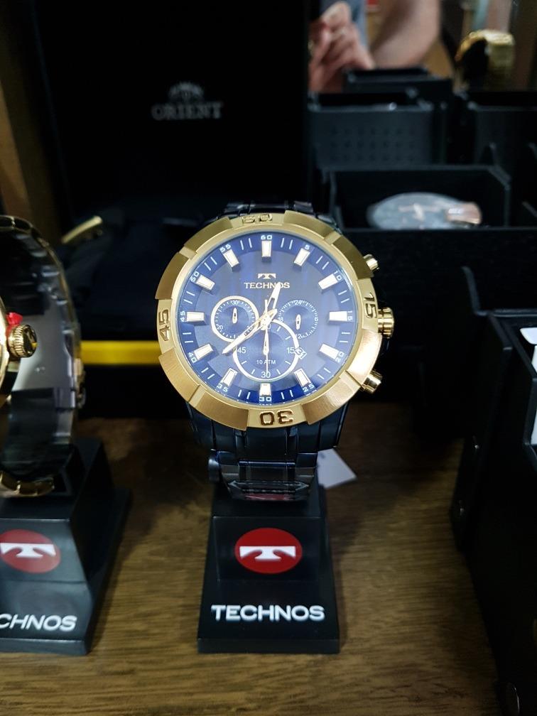 54bf4658bc Carregando zoom... relógio technos dourado masculino classic legacy os20iq  4a. Carregando zoom.