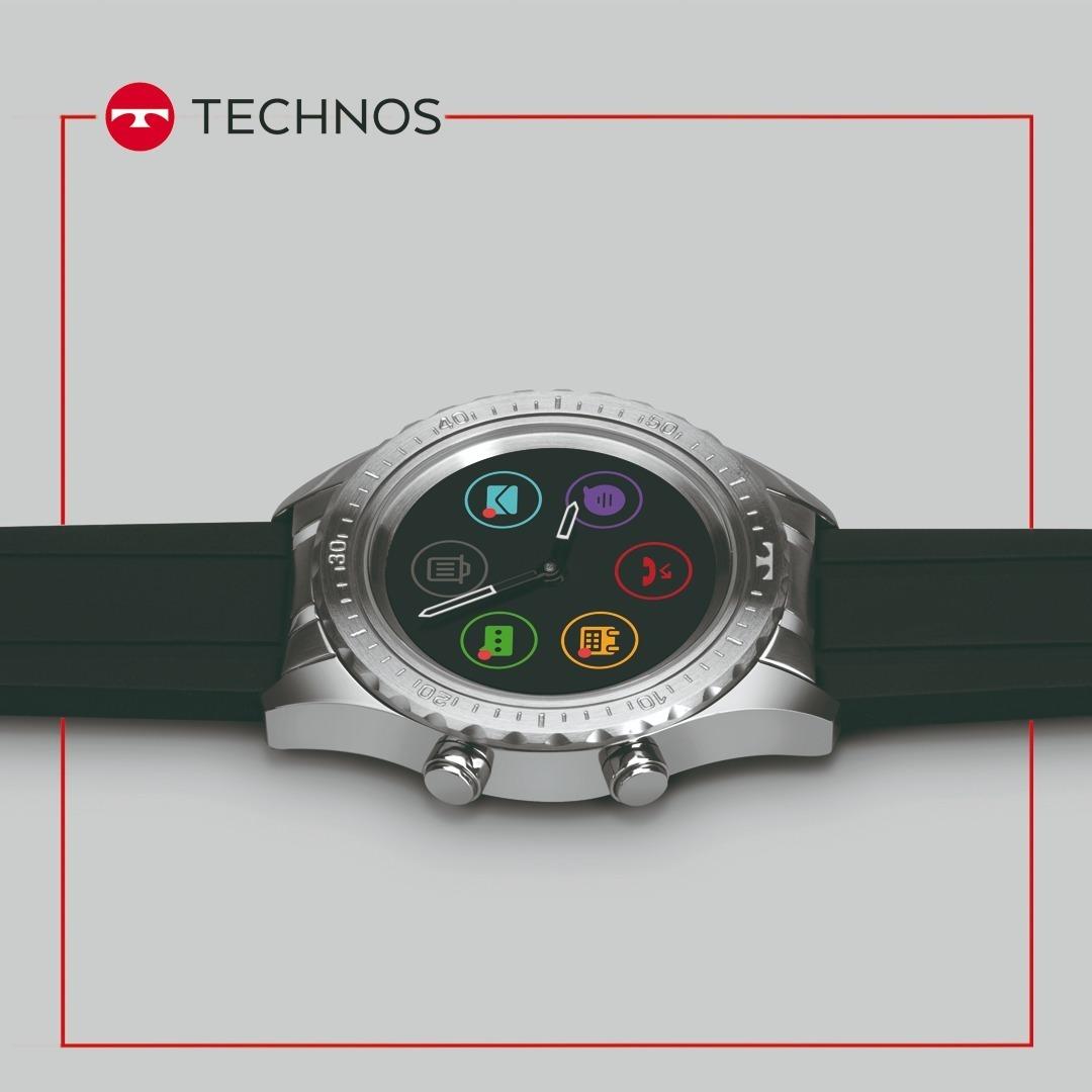 a078b85f526ac Carregando zoom... relógio technos masculino connect duo p01aa 1p smartwatch  br
