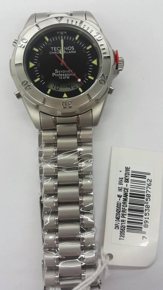 Relógio Technos Masculino Skydiver Preto T20562 1r Original - R  399 ... ca500eef02