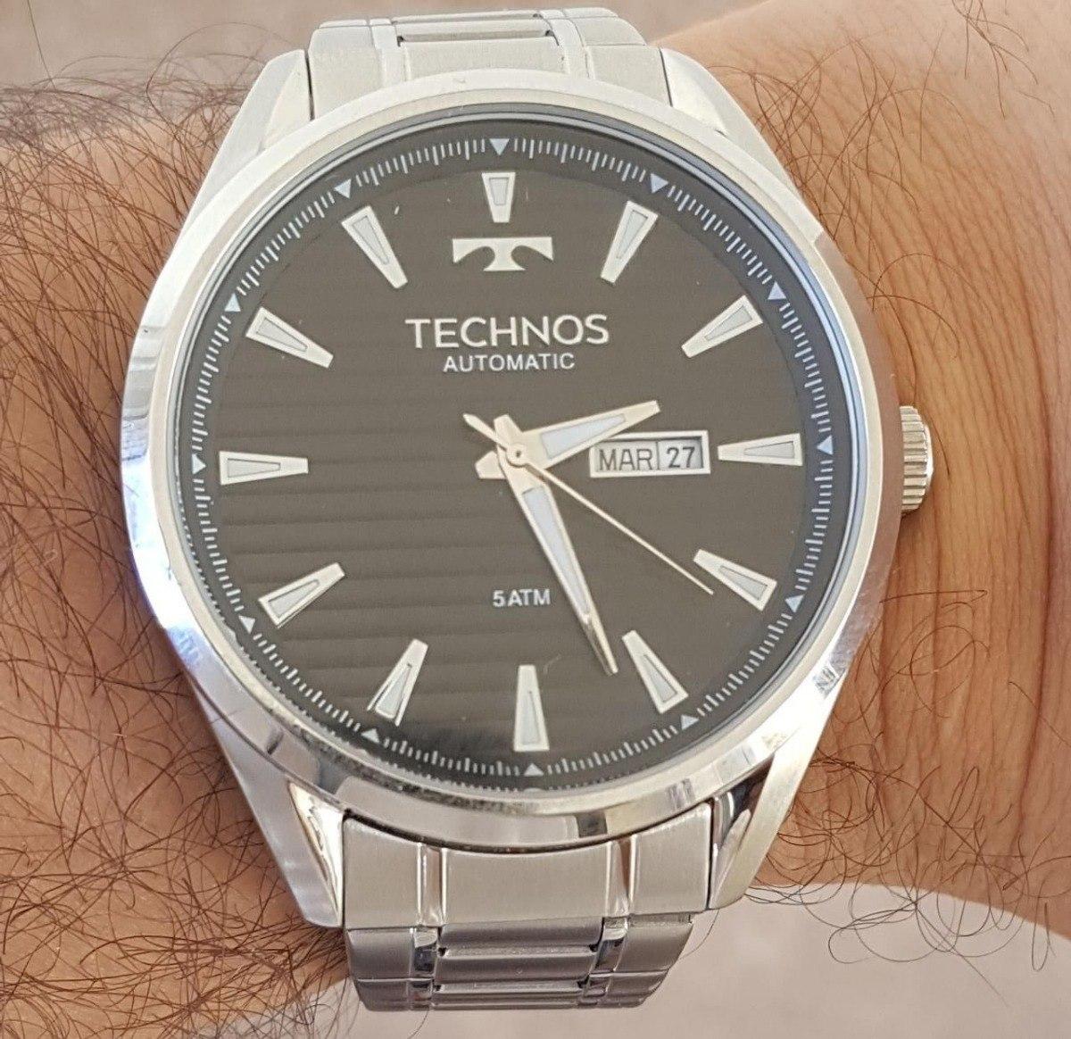 52509208a379f Relógio Technos Automático Masculino 8205nw 0p - R  477,00 em Mercado Livre