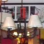 Oferta!!! Araña Colgante De 2 Luces En Hierro Rustico