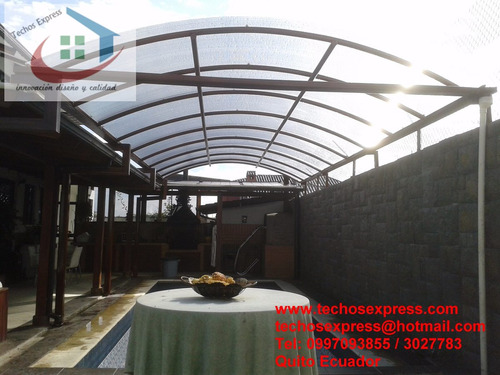 techo corredizos policarbonato pergolas cubiertas estructura