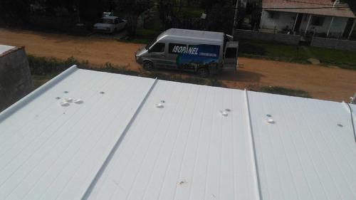 techo de isopanel colocado oferta! 48u$ el m2 todo incluido