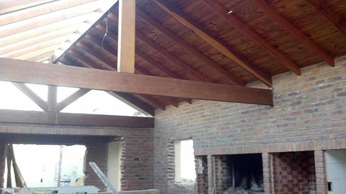 techo de madera tirantes vigas viraro premium