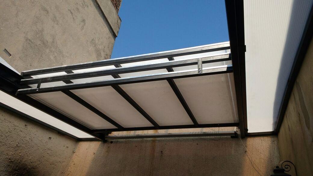 techo de policarbonato corredizo - $ 4.800,00 en mercado libre